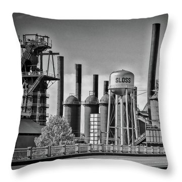Sloss Furnaces Towers Throw Pillow