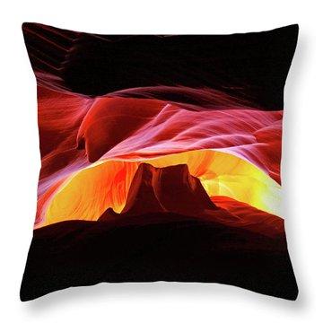 Slot Canyon Mountain Throw Pillow