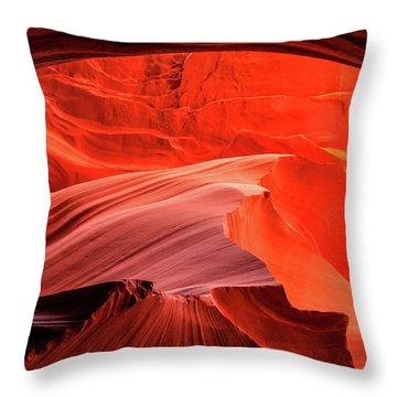 Slot Canyon Waves 1 Throw Pillow