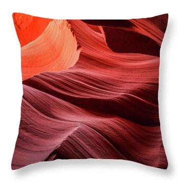 Slot Canyon Waves 2 Throw Pillow