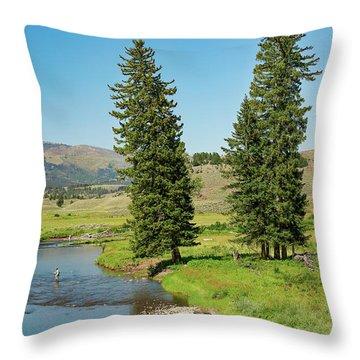 Slough Creek Throw Pillow