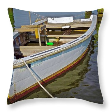 Slow Float Throw Pillow