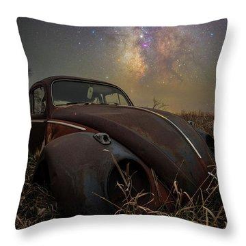 Throw Pillow featuring the photograph Slug Bug 'rust' by Aaron J Groen
