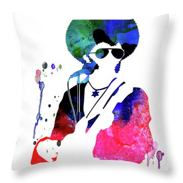 Sly And The Family Stone Watercolor Throw Pillow