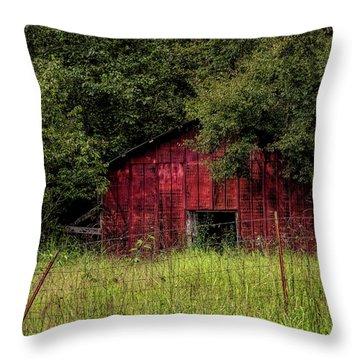 Small Barn 2 Throw Pillow