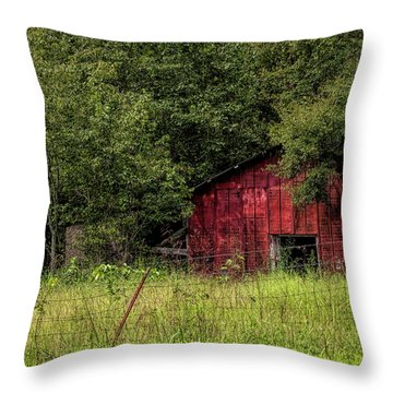 Small Barn Throw Pillow