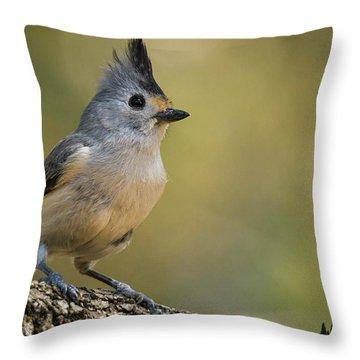 Small Titmouse Throw Pillow