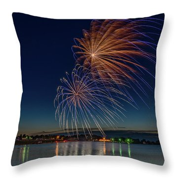 Small Town 4th Throw Pillow