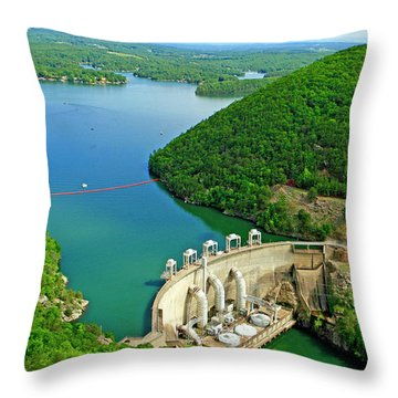 Smith Mountain Lake Dam Throw Pillow