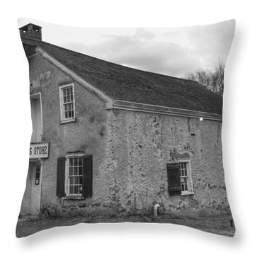 Smith's Store - Waterloo Village Throw Pillow
