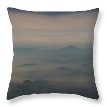 Throw Pillow featuring the photograph Smoke From A Distant Fire by Alex Lapidus