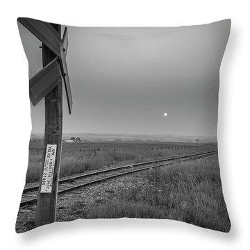 Smoke Haze Over The Prairie Throw Pillow