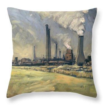 Smoke Stacks Prins Maurits Mine Throw Pillow