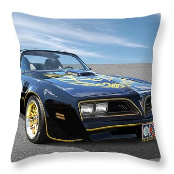 Smokey And The Bandit Trans Am Throw Pillow