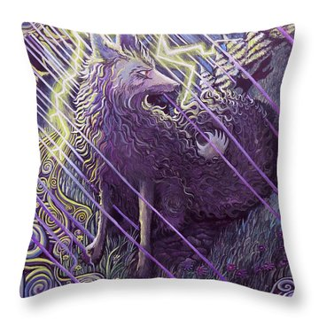 Smokey Rain Throw Pillow