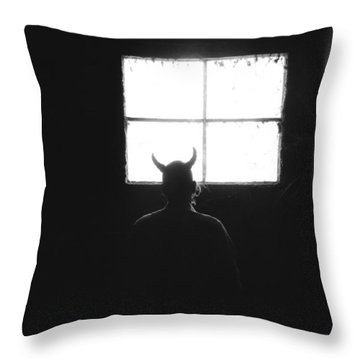 Throw Pillow featuring the photograph Smoking Lounge by Carl Young