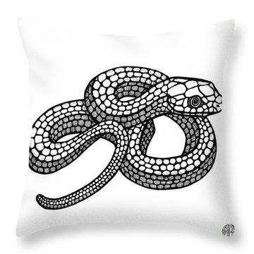 Smooth Green Snake Throw Pillow