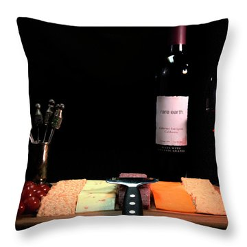 Snacks Are Served  Throw Pillow