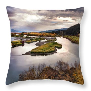 Snake River Swan Valley Throw Pillow