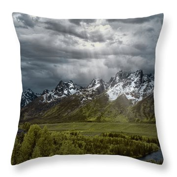 Snake River Tetons Throw Pillow