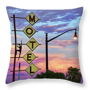 Throw Pillow featuring the photograph Sneaker by Skip Hunt