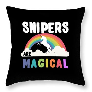 Throw Pillow featuring the digital art Snipers Are Magical by Flippin Sweet Gear