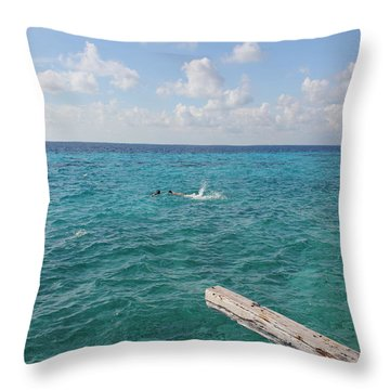 Snorkeling Throw Pillow