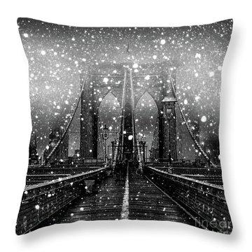 Snow Collection Set 04 Throw Pillow