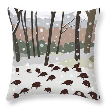 Snow Day In Hopkinton Throw Pillow