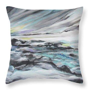 Snow Flow Throw Pillow