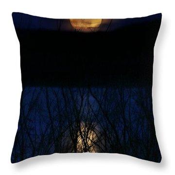 Snow Moon Throw Pillow