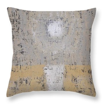 Snow Moon Original Painting Throw Pillow