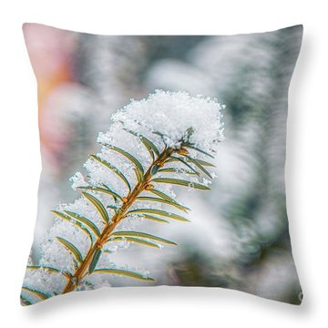 Snow Needle Throw Pillow