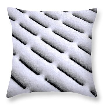 Throw Pillow featuring the photograph Snow Patterns by Jon Burch Photography