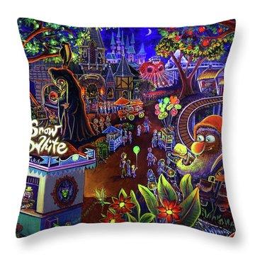 Snow White Amusement Park Throw Pillow