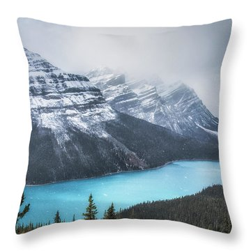 Peyto Lake Throw Pillows