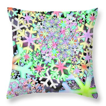 Snowflake One Remix One Throw Pillow