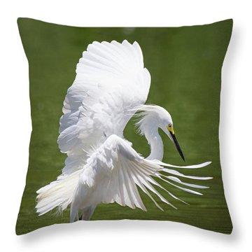 Snowy Dance Throw Pillow