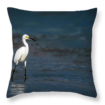 Snowy In The Surf Throw Pillow