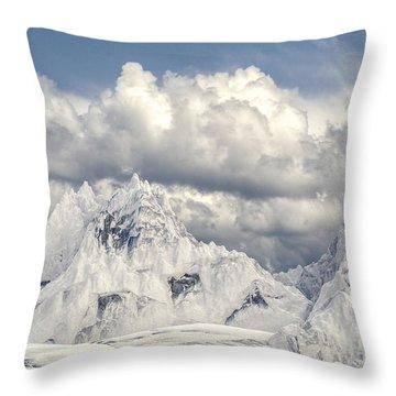 Snowy Mountain 002 Throw Pillow