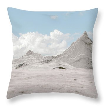 Snowy Mountain 007 Throw Pillow