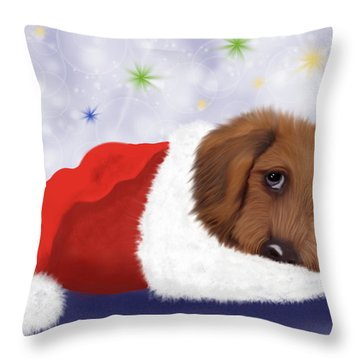 Snuggle Puppy Throw Pillow