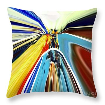 Throw Pillow featuring the digital art So Far Away by A zakaria Mami