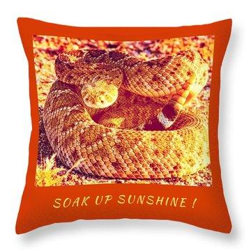Soak Up Sunshine Throw Pillow