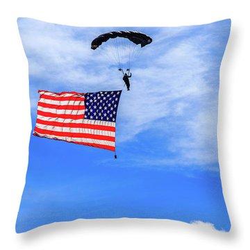 Socom Flag Jump Throw Pillow
