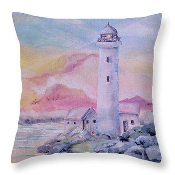 Soft Lighthouse Throw Pillow
