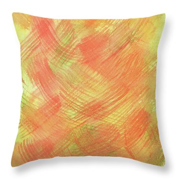 Soft Orange Colors 2 Throw Pillow
