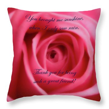 Throw Pillow featuring the photograph Soft Red Joy And Friendship by Johanna Hurmerinta