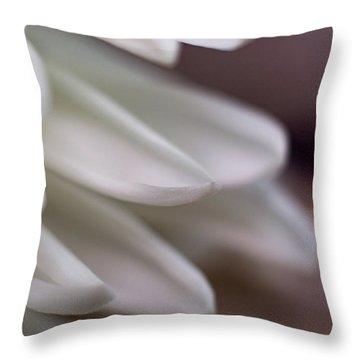 Soft White Petals-1 Throw Pillow