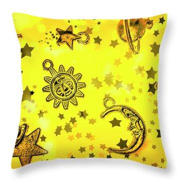 Solar Stars Throw Pillow